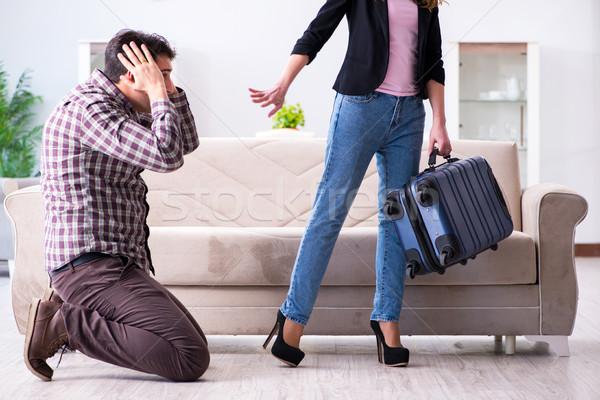 Jovem família quebrado relação mulher amor Foto stock © Elnur