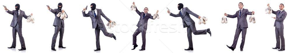 Geschäftsmann Verbrecher Geld Mann Arbeitnehmer Finanzierung Stock foto © Elnur