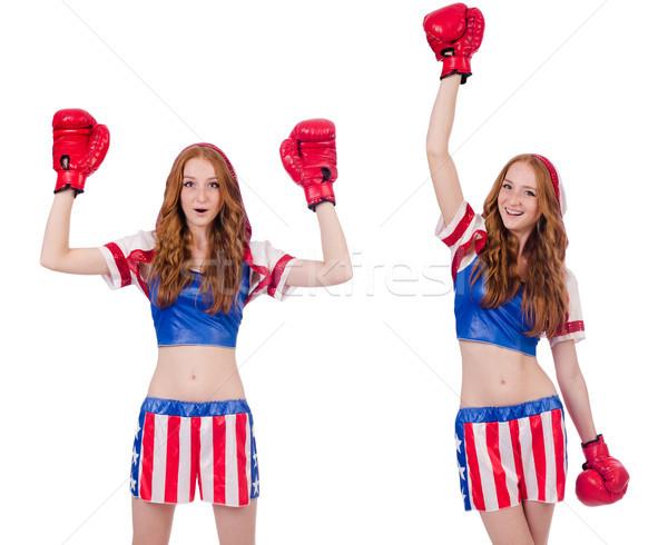 Kadın boksör üniforma semboller kız sağlık Stok fotoğraf © Elnur