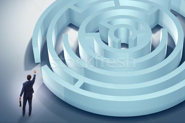 ビジネスマン 脱出 迷路 迷路 男 抽象的な ストックフォト © Elnur