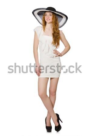 Mulher férias de verão menina sorrir moda jovem Foto stock © Elnur