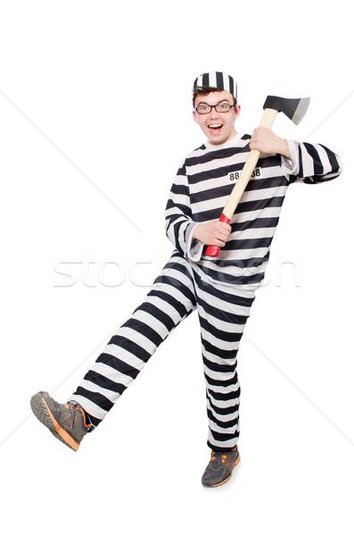 面白い 刑務所 受刑者 法 楽しい 警察 ストックフォト © Elnur