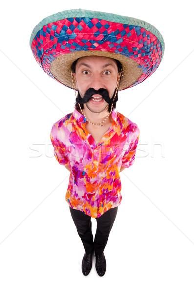 Funny mexicano sombrero sombrero fiesta hombre Foto stock © Elnur