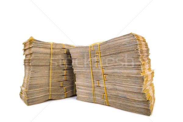Dinheiro isolado branco negócio bancário Foto stock © Elnur
