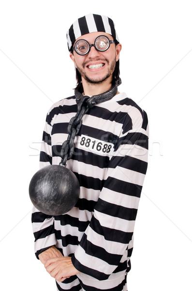Hapis tutuklu yalıtılmış beyaz mutlu eğlence Stok fotoğraf © Elnur