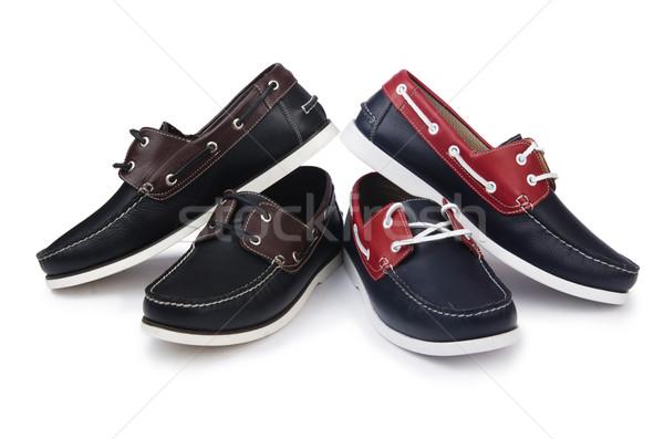 Mężczyzna buty odizolowany biały tle czarny Zdjęcia stock © Elnur