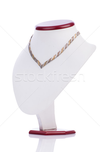 Nice necklace isolated on the white Stock photo © Elnur