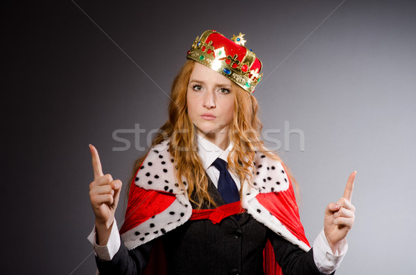 Królowej kobieta interesu funny kobieta biznesmen garnitur Zdjęcia stock © Elnur