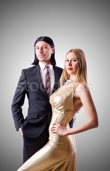 Pair in funny love concept Stock photo © Elnur