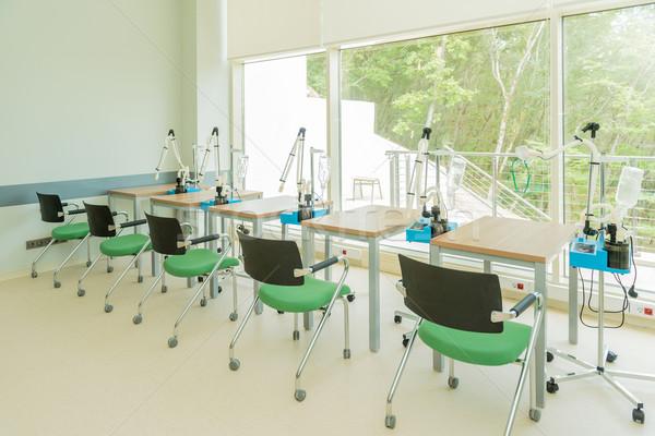Chambre clinique table président blanche chimie Photo stock © Elnur