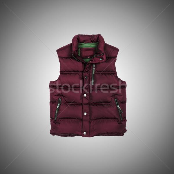 Mellény gradiens háttér tél ruha férfi Stock fotó © Elnur
