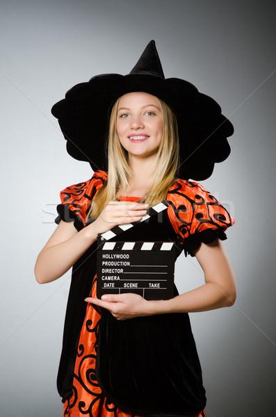 Boszorkány film mozi vicces halott kalap Stock fotó © Elnur