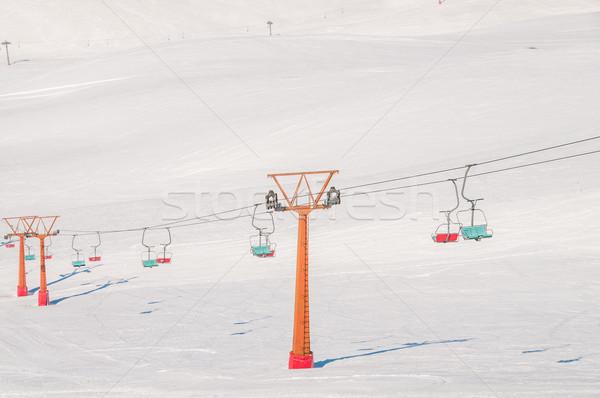 Esquiar brilhante inverno dia céu esportes Foto stock © Elnur
