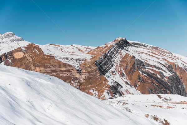 Kış dağlar bölge Azerbeycan gökyüzü manzara Stok fotoğraf © Elnur