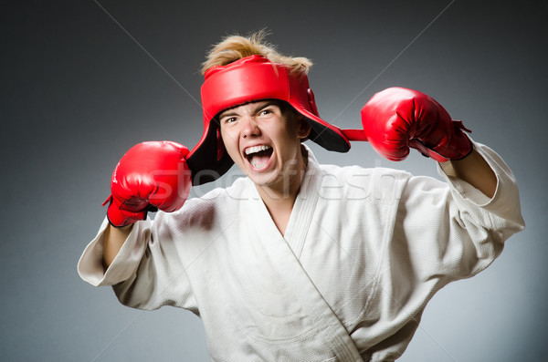 Funny boxer in sport concept Stock photo © Elnur