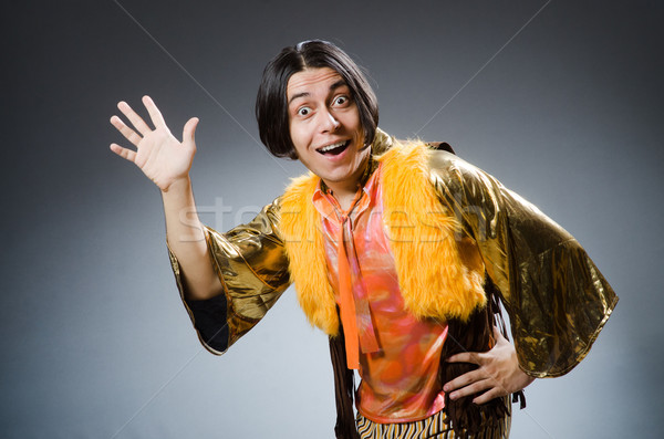 Young man in funny concept Stock photo © Elnur