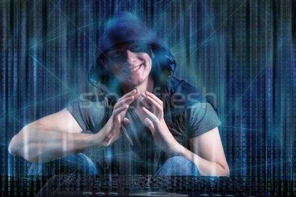 молодые хакер цифровой безопасности компьютер сеть Сток-фото © Elnur