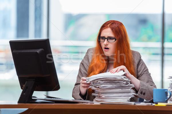 Zdjęcia stock: Kobieta · interesu · kart · kobieta · pracy