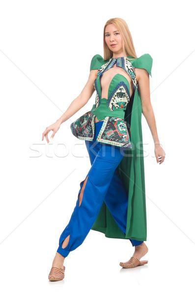 Woman in Azerbaijani designer clothes isolated on white Stock photo © Elnur