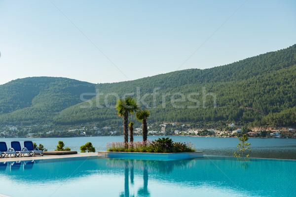 Güzel yüzme havuzu açık havada parlak yaz gün Stok fotoğraf © Elnur