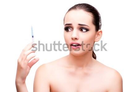 Hand manicure treatment in health concept Stock photo © Elnur