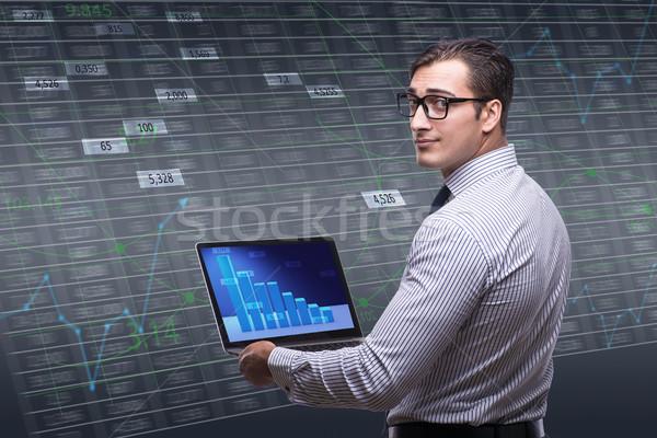 小さな ビジネスマン を 取引 お金 インターネット ストックフォト © Elnur
