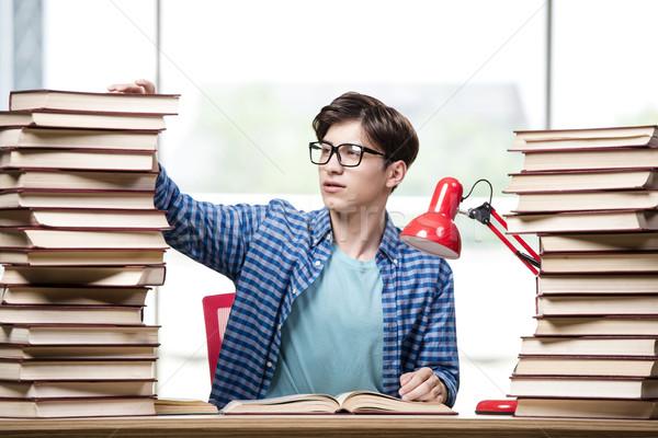 学生 図書 試験 学校 ホーム 悲しい ストックフォト © Elnur