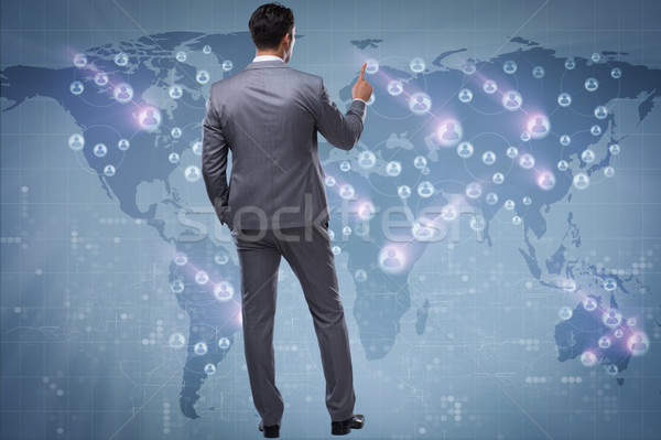 Stockfoto: Man · sociale · netwerken · business · technologie · zakenman · contact