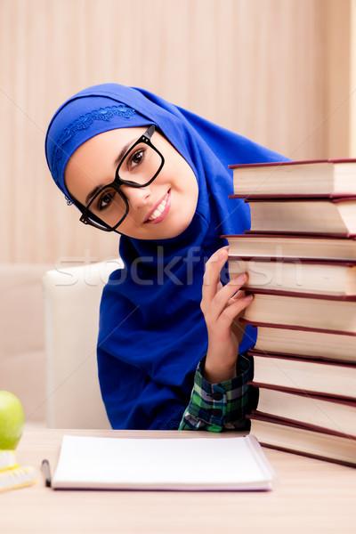 мусульманских девушки экзамены женщину книгах школы Сток-фото © Elnur
