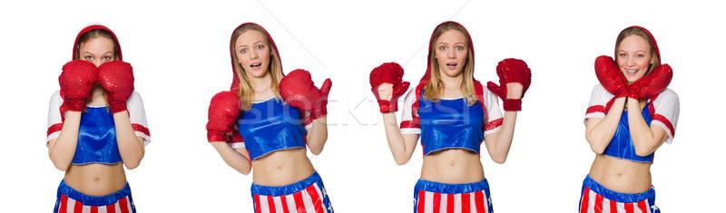 Femminile boxer isolato bianco sport salute Foto d'archivio © Elnur