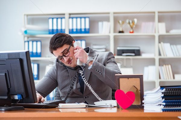 The businessman in saint valentine concept in office Stock photo © Elnur