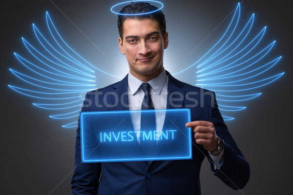 The angel investor concept with businessman with wings Stock photo © Elnur