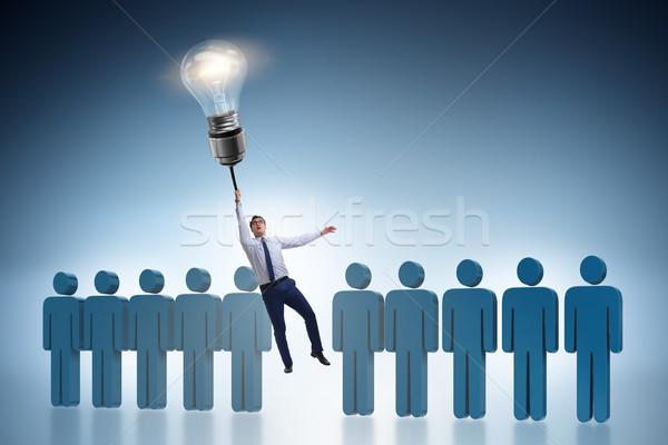 Empresario carrera promoción lámpara éxito globo Foto stock © Elnur