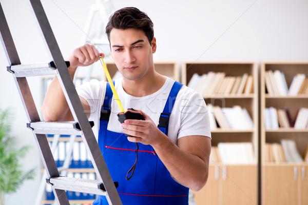 Lavoro misurazione nastro home imprenditore Foto d'archivio © Elnur