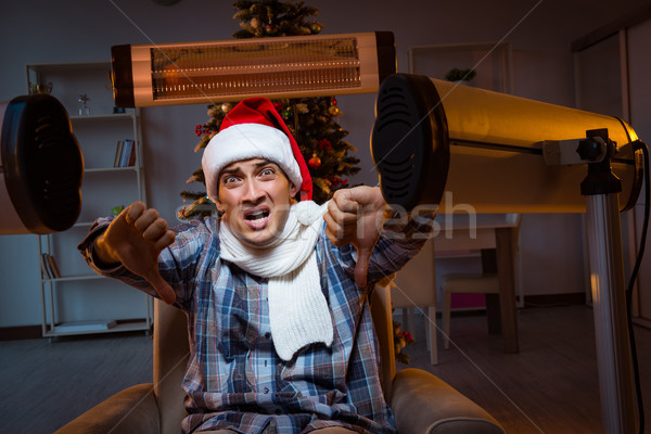The man suffering from cold at home Stock photo © Elnur