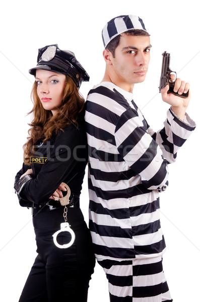 Politie gevangenis bewoner witte vrouw man Stockfoto © Elnur