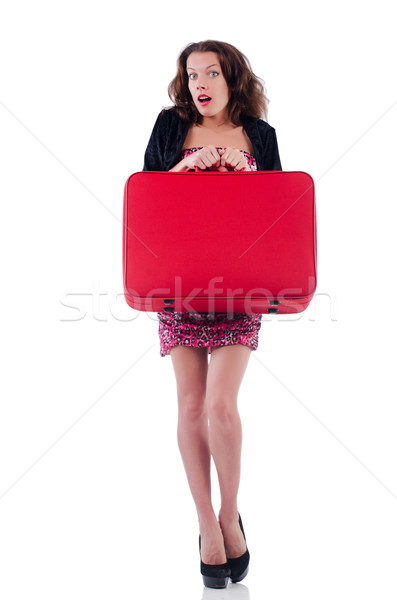 Viaggio valigia business ragazza felice Foto d'archivio © Elnur