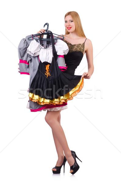 Femme vêtements sourire chambre magasin jeunes Photo stock © Elnur