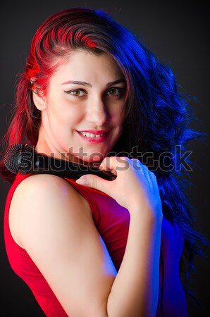 Young woman sailor in marine concept Stock photo © Elnur