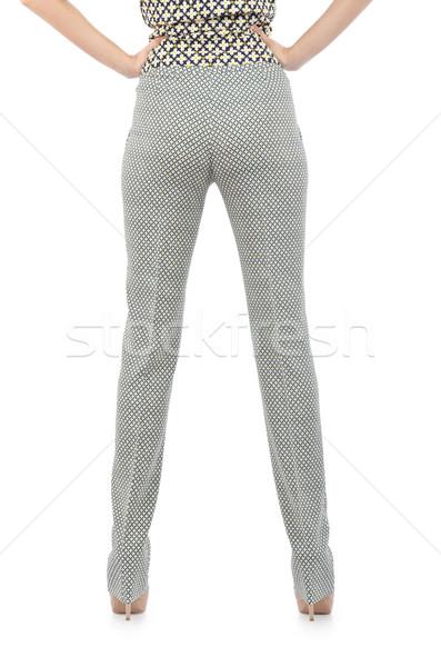 Pantalones aislado blanco modelo fondo jeans Foto stock © Elnur