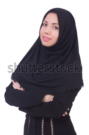 Muslim woman praying isolated on white Stock photo © Elnur