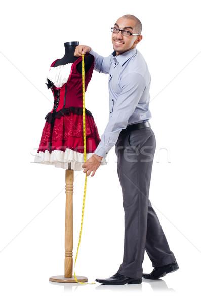 Kleermaker geïsoleerd witte man mode werk Stockfoto © Elnur