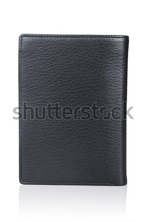 Deri cüzdan yalıtılmış beyaz arka plan finanse Stok fotoğraf © Elnur