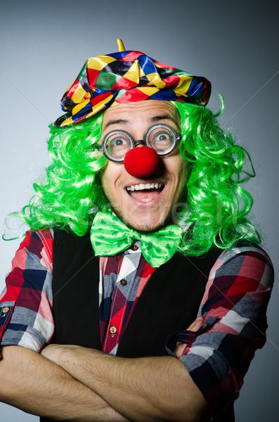 Vicces bohóc sötét mosoly arc szemüveg Stock fotó © Elnur