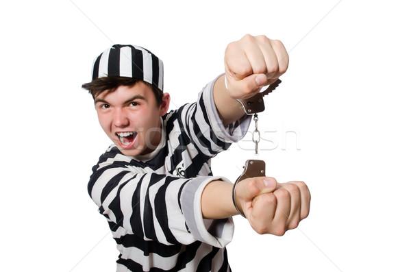 面白い 刑務所 受刑者 警察 ボール 自由 ストックフォト © Elnur