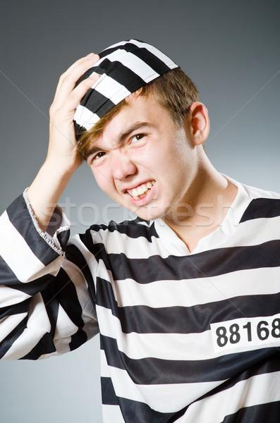 Stock fotó: Vicces · börtön · bennlakó · törvény · rendőrség · igazság