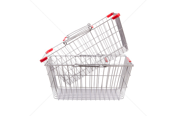 Shopping supermarket trolley isolated on the white Stock photo © Elnur