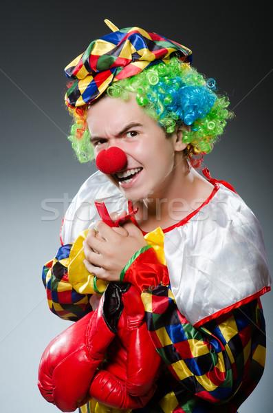 Funny clown polu rękawice zabawy pracownika Zdjęcia stock © Elnur