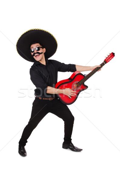 Engraçado mexicano sombrero seis música homem Foto stock © Elnur
