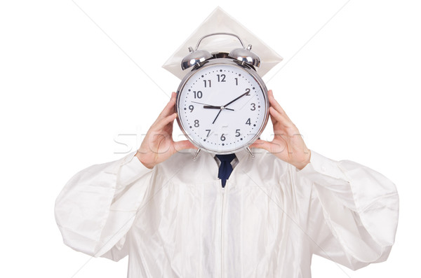 Student vermist deadlines klok witte onderwijs Stockfoto © Elnur